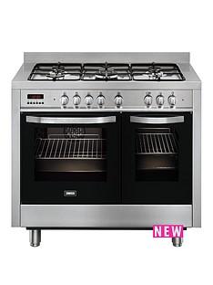 zanussi-zanussi-zck18307xa-100cm-double-oven-dual-fuel-range-cooker