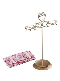 floral-bloom-collection-jewellery-stand-amp-jewellery-roll-set