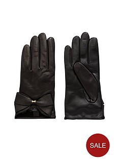 ted-baker-leather-bow-gloves