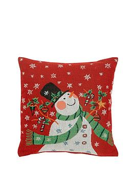 snowman-tapestry-cushion