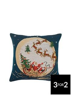santas-sleigh-tapestry-cushion