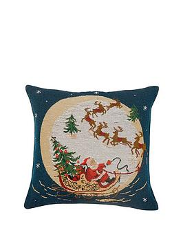 santas-sleigh-tapestry-cushion