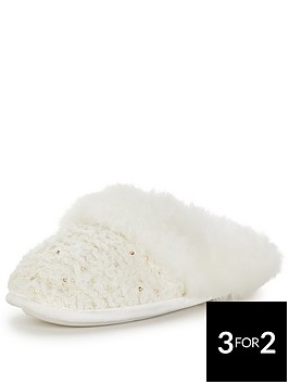 totes-isotoner-sparkle-sequin-mule-slipper-in-a-gift-box