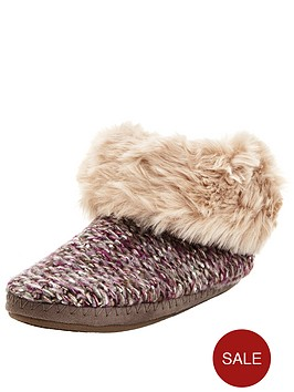 totes-isotoner-sparkle-knit-cosy-slipper-boot-in-gift-box-purplegold