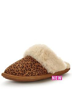 just-sheepskin-mule-slipper-with-gel-insole--nbspleopard-printnbsp