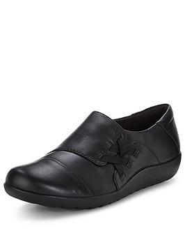 clarks-medora-sandy-flat-leather-shoes