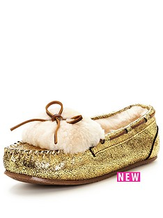 clarks-warm-glamour-cracked-gold-sheepskin-slipper-gold-metallic