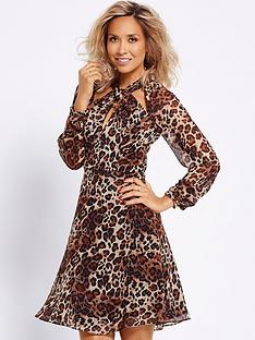 myleene-klass-twist-front-long-sleeve-dress
