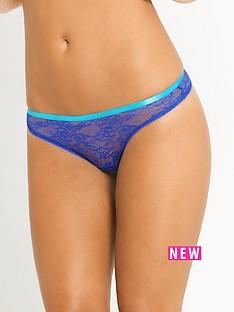 myleene-klass-strapping-lace-thong-cobalt