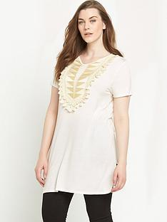 so-fabulous-sequin-bib-tassel-trim-tunic