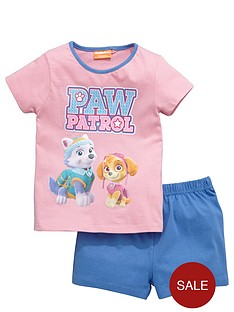 paw-patrol-girls-skye-and-everest-shortynbsppyjamas
