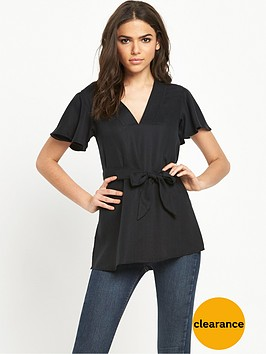 river-island-short-sleeve-belted-top