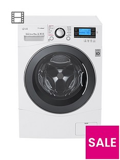 LG FH495BDS2 12kgLoad 1400 Spin Washing Machine - White
