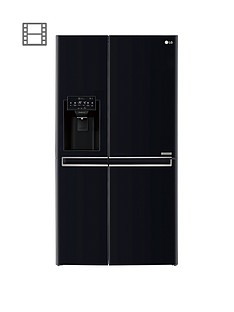 LG GSL761WBXV USA Style Fridge Freezer with Non-Plumbed Water & Ice Dispenser - Black