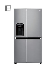 LG GSL760PZXV USA Style Fridge Freezer with Water & Ice Dispenser - Silver Best Price, Cheapest Prices