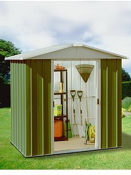 Yardmaster 6.1 X 4.1 Ft Apex Roof Metal Garden Shed