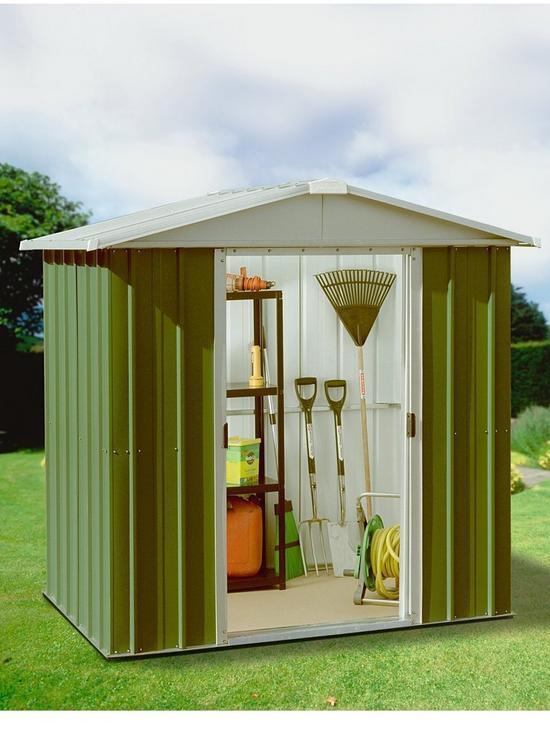 Yardmaster 6.1 X 4.1 Ft Apex Roof Metal Garden Shed | Very.co.uk