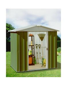 yardmaster 61 x 61 ft apex roof metal garden shed - Garden Sheds Very