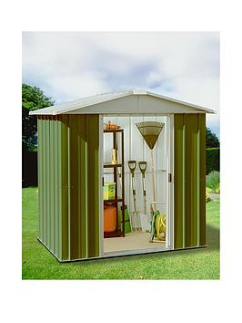 Yardmaster 6.1 X 6.1 Ft Apex Roof Metal Garden Shed