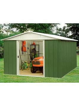 Yardmaster 9.4 X 9.4 Ft Apex Metal Roof Shed