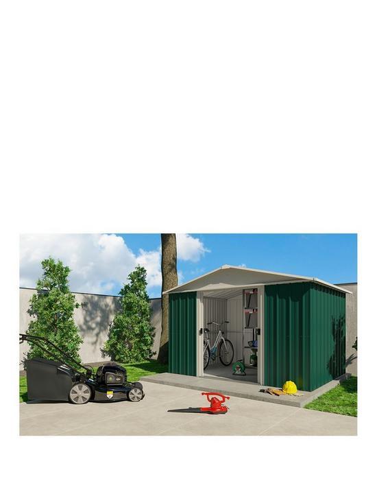 Yardmaster 12.7x9.3ft Apex Roof Metal Garden Shed | Very.co.uk