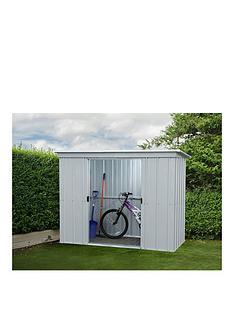 yardmaster-65-x-39ft-double-door-metal-pent-roof-shed-with-floor-frame