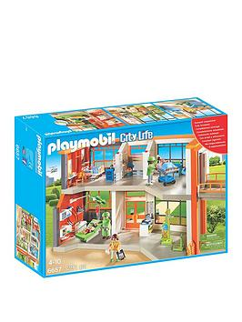 playmobil-playmobil-6657-city-life-furnished-childrens-hospital
