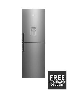 hoover-hvbn6182xwdknbsp60cm-frost-free-fridge-freezer-with-water-dispenser-stainless-steel