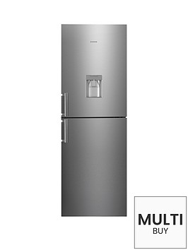 hoover-hvbn6182xwdknbsp60cm-frost-free-fridge-freezer-with-water-dispenser-stainless-steel