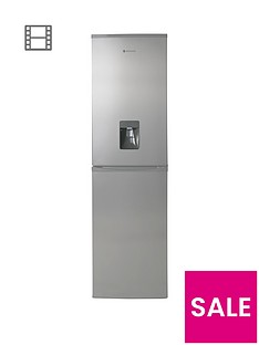 Hoover HFF195XWK 55cm Frost Free Fridge Freezer with Water Dispenser - Stainless Steel