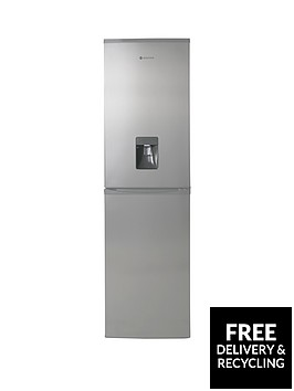 hoover-hff195xwknbsp55cm-frost-free-fridge-freezer-with-water-dispenser-stainless-steel