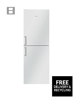 Hoover HVBN6182WHK 60cm Frost Free Fridge Freezer - White