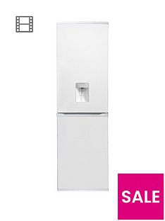 Hoover HFF195WWK 55cm Frost Free Fridge Freezer with Water Dispenser - White