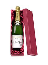 Chilli & Bubble's Personalised Engagement Champagne in a Gold or Silk Lined Gift Box