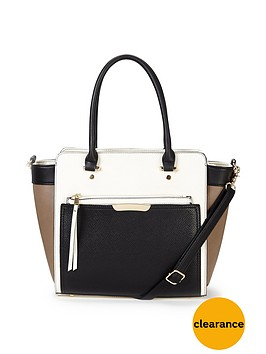 oasis-tilly-colour-block-tote-bag