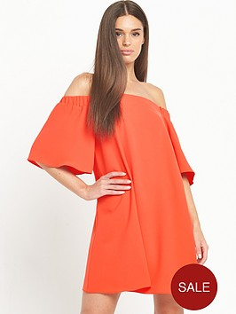 river-island-bardot-swing-dress-red