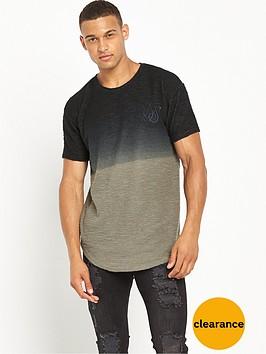 sik-silk-flannel-fade-textured-short-sleeve-sweat-khakiblack