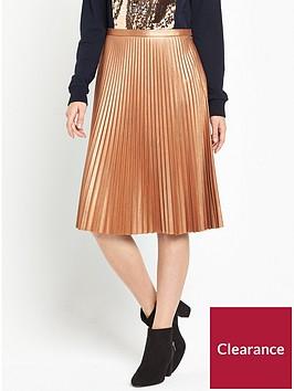 boss-baledina-pleated-skirt-rust-copper