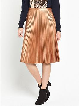 Photo of Boss orange baledina pleated skirt - rust copper