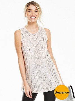 v-by-very-longline-sleeveless-sequin-top