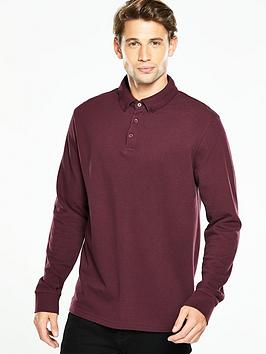 v-by-very-long-sleeve-pique-polo-top
