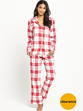 ugg-raven-cosy-plaid-flannel-pyjama-set-lipstick-red
