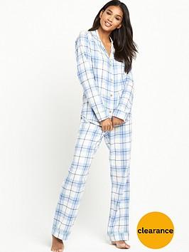 ugg-raven-cosy-plaid-flannel-pyjama-set-pajama-blue