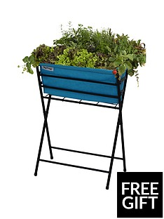 vegtrug-poppy-planter-with-pale-blue-felt-plus-10-packets-of-tampm-seeds