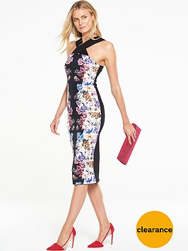 v-by-very-cross-neck-printed-bodycon-dress