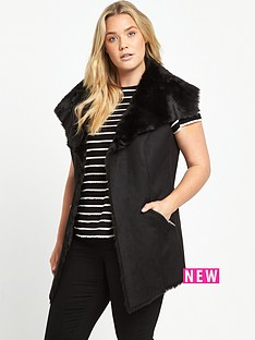 so-fabulous-suedette-fur-lined-gilet-black