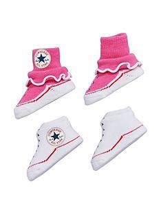 converse-converse-baby-girls-pk-2-booties-gift-set