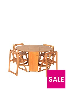 butterfly-141-cm-fold-away-wooden-dining-table-4-dining-chairs