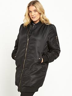 lovedrobe-longline-bomber-jacket-black