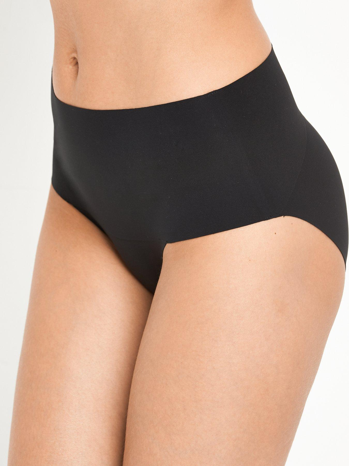 Size 16. Ladies Famous Make Fawn Stripe Firm Control No VPL High Leg Briefs